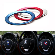 Silver 45mm Steering Wheel Center Ring Cover Logo Emblem Decoration Trim For BMW