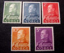 Norway Stamp Scott# 370-374  King Olav V 1959 MH  C401