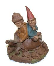 Tom Clark Gnome - Heather & Jan Riding On Turtle Hand Signed Edition #65