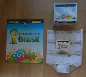 Panini FIFA World Cup Brazil 2014 Complete Set of Stickers + Album + Box + Pack
