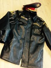 Vintage Soviet Russian uniform army and police coat + hat. Big size.