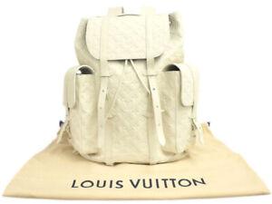 LOUIS VUITTON Virgil Abloh Christopher GM Backpack Bag M53286 White Monogram New