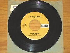 "ROCK & ROLL GROUP 45 RPM - JACK SCOTT - CARLTON 514 -""THE WAY I WALK"" + ""MIDGIE"""