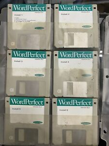Word Perfect Version 6.0 Set of 12 disks