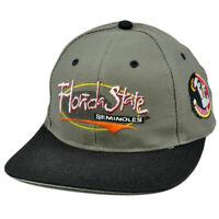 NCAA FSU Florida State Seminoles Vintage Retro Logo Athletic Snapback Cap Hat