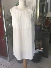 Robe LA FEE MARABOUTEE taille 42 blanc ecru impeccable