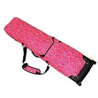 Pink Womens Waterproof Snowboard Bag Travel Wheelie Pad Bag Snow Sport Ski Bags
