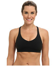 LUCY PERFECT CORE SPORTS RUNNING ADJUSTABLE BRA BLACK #111980005 LARGE NEW! $55