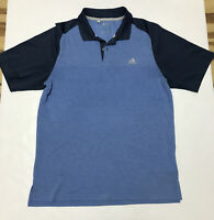Adidas Men's Polo Shirt Climacool Golf Short Sleeve Casual Camping Size M Blue