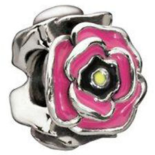 AUTHENTIC CHAMILIA 925 STERLING SILVER SIMPLY ROSY 2020-0648 PINK ROSE FLOWER