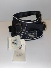 Pug Life Dog Harness Black Size XS Adjustable No Pull Reflective New with Tag