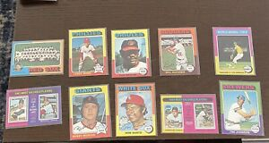 1975 Topps  Baseball Lot of 56 Low Grade great for filler sets and autographs