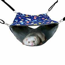 New listing Fulue Ferret Cage Accessories Cute Rat Hammock Bed Stuff Tunnel Blue