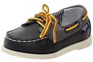 OshKosh B'gosh Toddler Boy's Alex Navy Lace-Up Boat Loafers Shoes