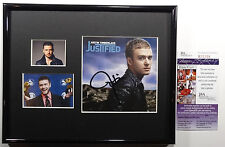 SIGNED JUSTIN TIMBERLAKE AUTOGRAPHED JUSTIFIED CD DISPLAY CERTIFIED JSA # R79258