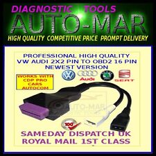 VAG 2 + 2 PIN adapter lead OBD diagnostic cable AUDI, VW, SEAT