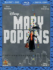 Disney Mary Poppins NEW Bluray & DVD/case/cover-no digital 50th anniversary
