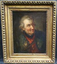 Portrait de vieil homme Ecole Française du XVIIIème siècle Huile sur toile