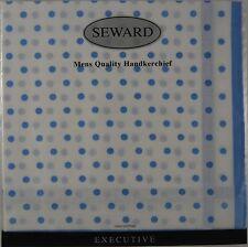 Executive Mens Handkerchief - Light Blue Polka Dots