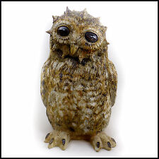 Tawny Owl Chick (Eyes Wide Open) Original Stoneware by Tracy Wright Zoo Ceramics