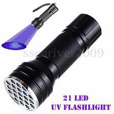 Aluminum Alloy 21LED UV Ultra Violet Mini Blacklight Flashlight Torch Light Lamp