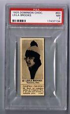 1925 Dominion Choc. Sports Card #63 Leila Brooks (Skating) Graded PSA 7