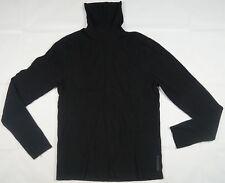 Rare Vintage ARMANI EXCHANGE Knit Rayon Turtleneck Sweater 90s Black Women SZ XL