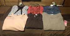 Nwt Women's Winter Tops Size L Lot Of 6, Various Brands ($100.93),