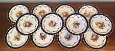 Antique Royal Worcester Hand Painted Fruit Luncheon Plates E. Phillips  ~ 12