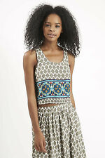 Polyester Paisley Casual Crop Tops & Shirts for Women
