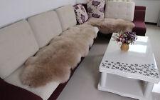190x70cm LARGE Black Double Pelt Soft Sheepskin Rug Mat Seat Pad Home Carpet AU