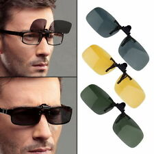 Driving Night Vision Clip-on Flip-up Lens Sunglasses Glasses Cool Eyewear HOT CH