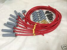 Ford Cleveland 302 351 460 SPARK PLUG LEADS 8.5MM RED male caps or hei type cap