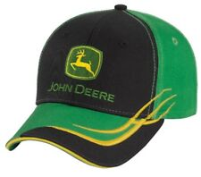 NEW John Deere Green and Black Twill Cap Accent Stitching on the Visor  LP66984 deee63a46a45