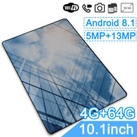 Android 8.1 4G+64G Tablet 10.1 inch Quad Core WIFI BluetoothV4.0 Laptop Dual SIM