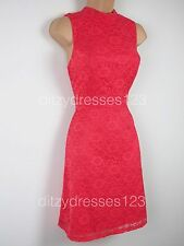 BNWT Definitions High Neck Lace Dress Size 12 Stretch RRP £44