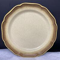 "Vintage Mikasa Stoneware WHOLE WHEAT Cream Brown E8000 Dinner Plate 11"""