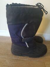e480fd2fa03e L.L. Bean Black Blue Tall Warm Winter Snow Boots Kids Boys Sz 6