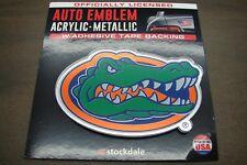 UNIVERSITY OF FLORIDA GATORS ACRYLIC LASER CUT AUTO EMBLEM STICKER DECAL LOGO