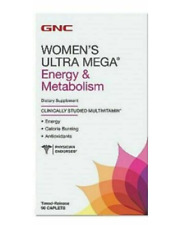 Women's GNC Ultra Mega Energy,Calorie Burning& Metabolism Multivitamins Exp10/21