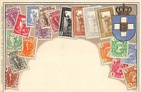 Stamp Card Postcard Showing Greek Postage Stamps~107968