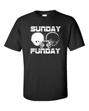 SUNDAY FUN DAY Football Helmets NFL Tailgate Beer Drinking Men's Tee Shirt 452