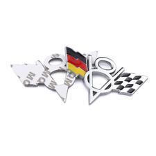 2Pcs 3D Germany Flag Racing V8 Emblem Alloy Sticker Badge Fit for Chevrolet