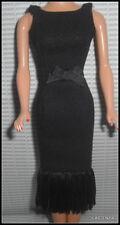 DRESS MATTEL BARBIE DOLL AUDREY HEPBURN TIFFANY'S DAYTIME BLACK SHEATH DRESS