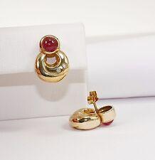 Meraviglioso Orecchini in Oro Giallo 585 con Tormalina Rosa e Brillante