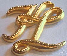 Vintage Karl Lagerfeld (Chanel Designer) Logo Script Monogram Brooch Pin Baroque