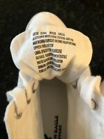 American Eagle Outfitters Mens White Canvas Hightop Sneakers, Size 10, New!