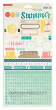 American Crafts - Crate Paper-Poolside Accent Stickers Gold Foil 2 Sheet