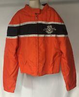 BD Biker Design Biker Motorcycle Jacket Boys Orange Black Size M Daytona 2004
