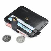 Herren Geldbörse Leder Geldbeutel Portemonnaie Klein Mini Brieftasche Z5P5
